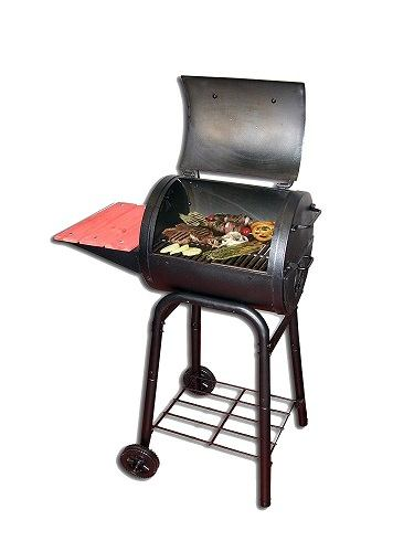 Food on the Char-Griller 1515 Patio Pro Charcoal Grill